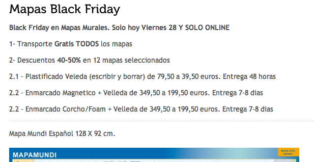 black friday mapas