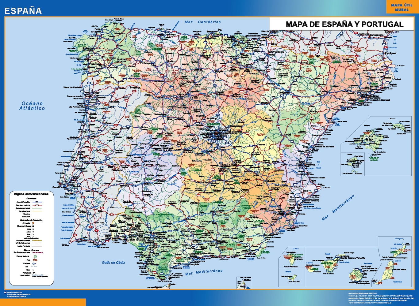 Mapa España Simple